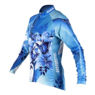 幻影 女抓絨長袖車衣-藍-自行車 單車 腳踏車 抗寒 保暖