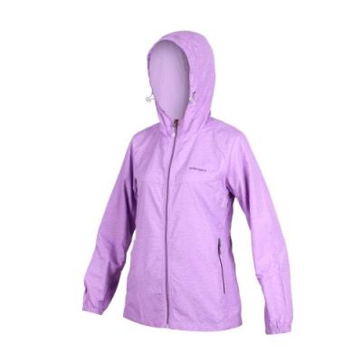 SOFO 女風衣外套-防風 連帽外套 慢跑 紫