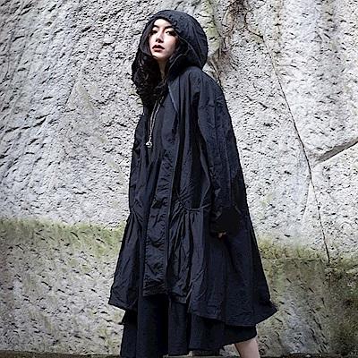 設計所在Style-日系抽皺寬鬆防曬中長版風衣外套