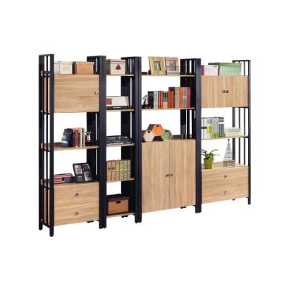 柏蒂家居-肖恩工業風9.1尺開放式書櫃/書架/收納置物架-275x40x203cm