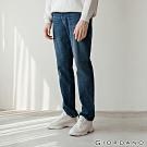 GIORDANO 男裝Old School刷色直筒牛仔褲 - 71 深藍