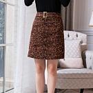設計所在Lady-豹紋性感短裙A字時尚一步高腰包臀裙(M-2XL可選)