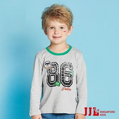 JJLKIDS 極簡運動風數字棉T(麻灰)