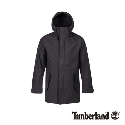 Timberland 男款經典黑防水連帽三合一外套 A1ZQD