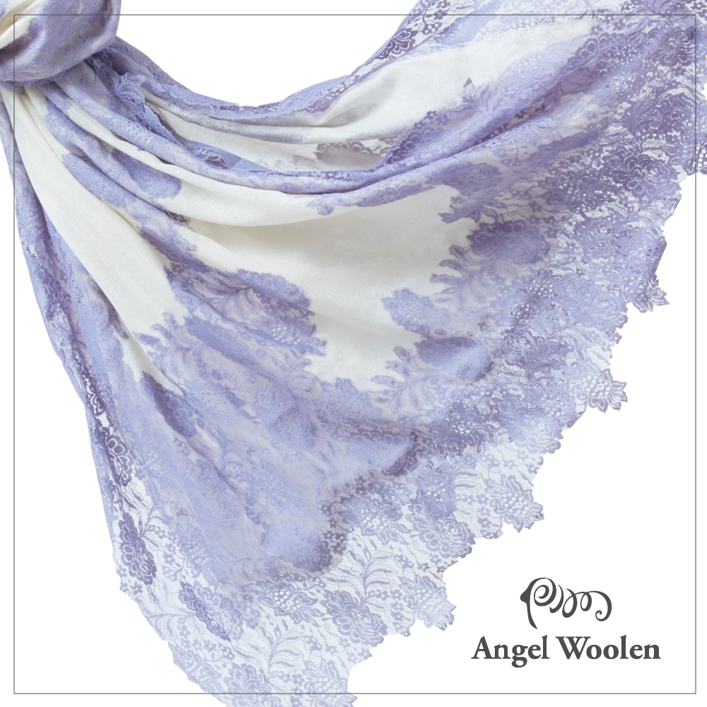 【ANGEL WOOLEN】回眸四面法式蕾絲印度手工披肩(共三色)
