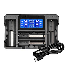 LCD液晶四槽複合式鎳氫電池/鋰電池充電器 18650 14500 NIMH AA AAA