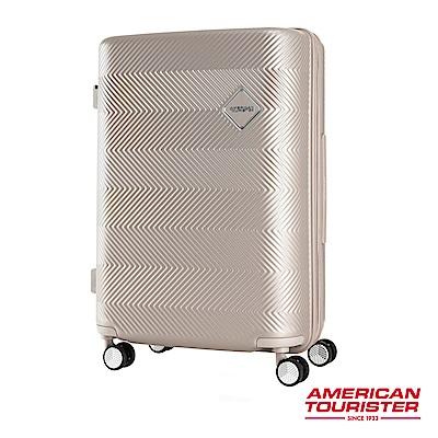 AT美國旅行者 24吋Groovista 霧面耐磨吸震PC硬殼行李箱(霧金)