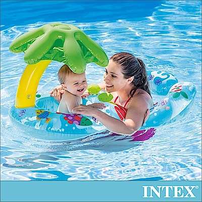 INTEX 8字型親子游泳圈 適用:1-2歲(56590)
