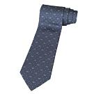GUCCI 經典 LOGO白點點藍底領帶(白字)
