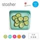 美國Stasher 方形白金矽膠密封袋-飛瀑藍 product thumbnail 2