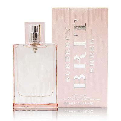 BURBERRY BRIT SHEER 粉紅風格 女性淡香水 50ml 附精美紙袋