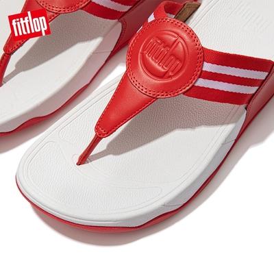 【FitFlop】WALKSTAR TOE-POST SANDALS 經典復刻LOGO夾腳涼鞋-女(紅色)