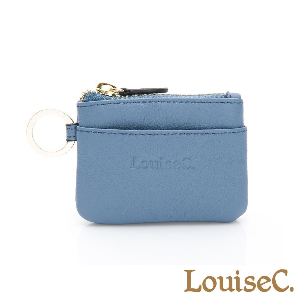 【LouiseC.】現代迷你版零錢鑰匙包-藍色 (16C01-0058A09)