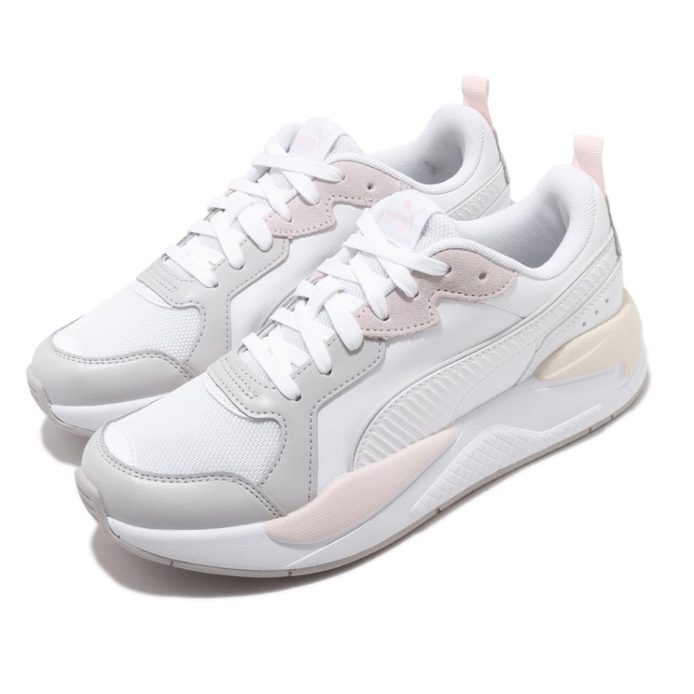 Puma 休閒鞋 X Ray Game 運動 女鞋 基本款 簡約 皮革 舒適 穿搭 球鞋 白 灰 37284904