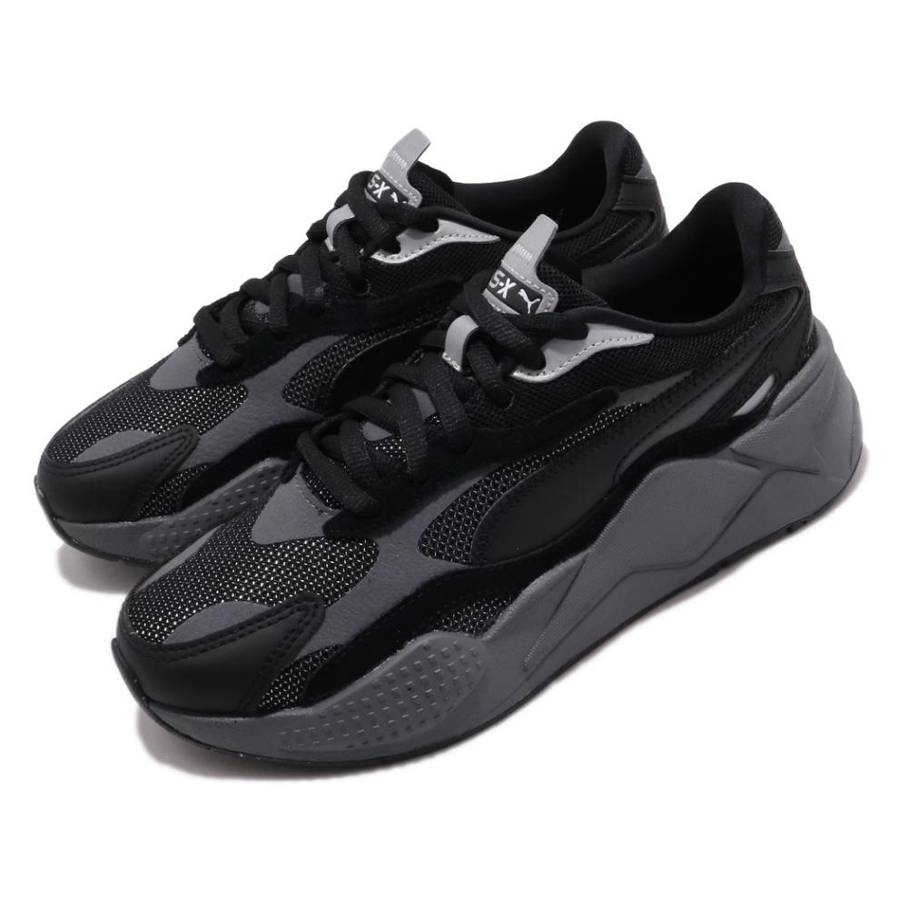 Puma 休閒鞋 RS X3 Puzzle 運動 男女鞋 厚底 舒適 簡約 情侶穿搭 老爹鞋 灰 黑 37157002