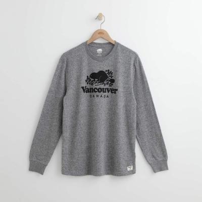 男裝ROOTS- 溫哥華長袖T恤-灰