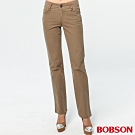 BOBSON 女款小尻革命直筒色褲