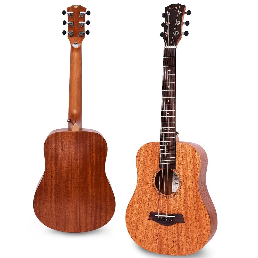 Enya 34吋 全桃花心木 旅行吉他(EB-01) 贈超值配件組