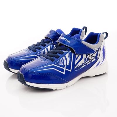 日本月星頂級童鞋 2E防潑水運動鞋款NI315藍(中大童段)