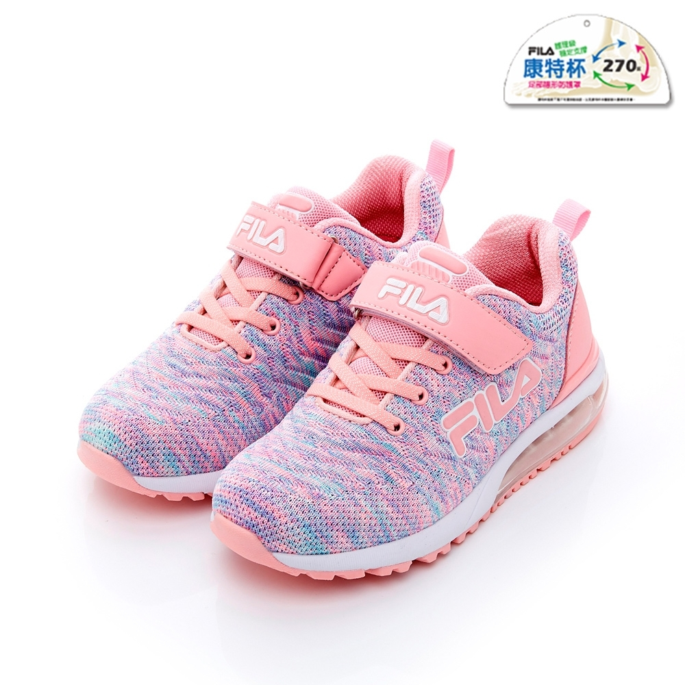 FILA KIDS 大童MD氣墊跑鞋-桃紫 3-J815T-955