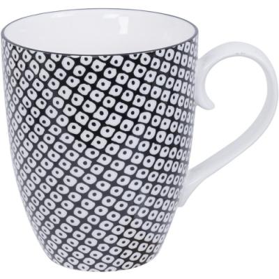 《Tokyo Design》瓷製馬克杯(網紋黑325ml)