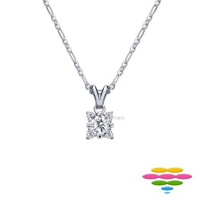 彩糖鑽工坊 19分 四爪鑽石項鍊 瑪麗公主系列
