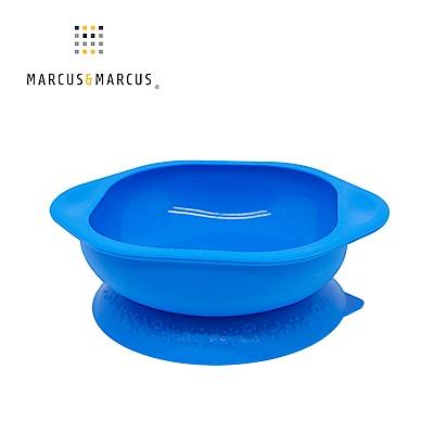 【MARCUS&MARCUS】動物樂園矽膠防漏幼兒學習吸盤碗-河馬(藍)