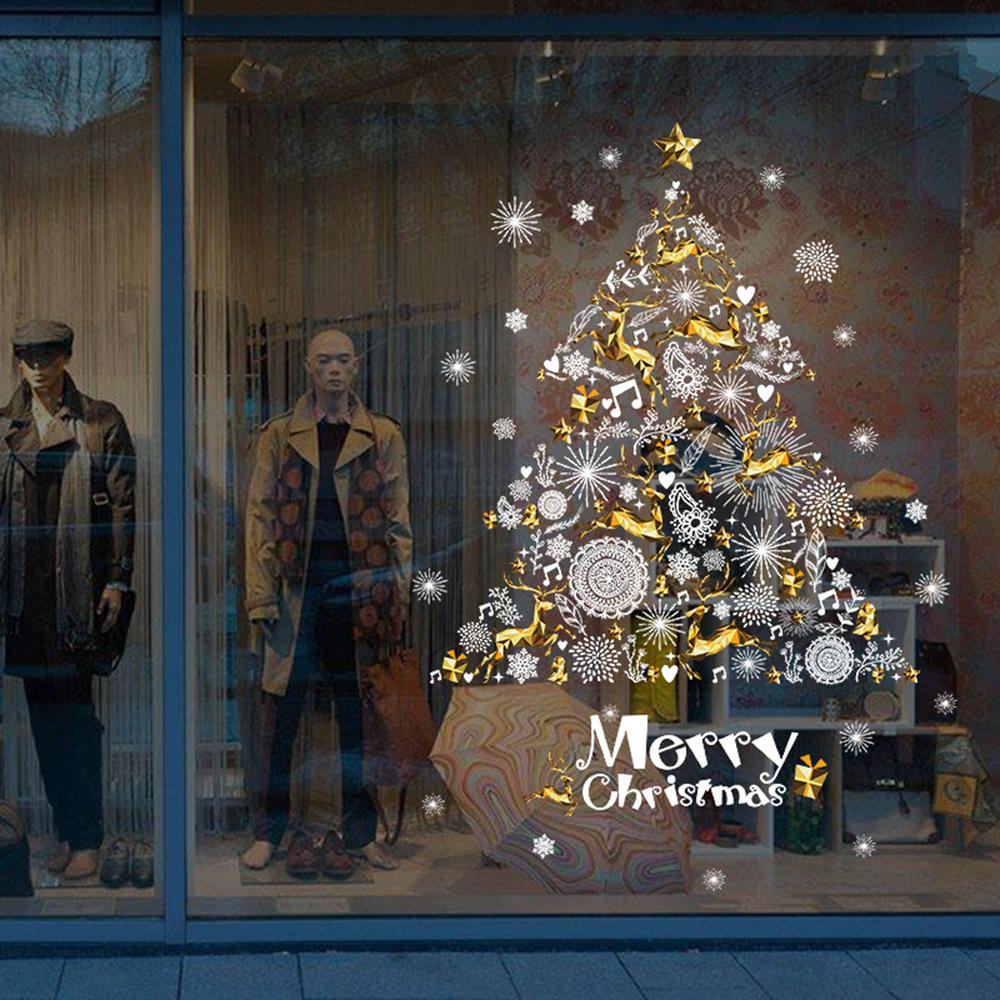 半島良品 聖誕壁貼-黃金聖誕樹 XH9293 60x90cm