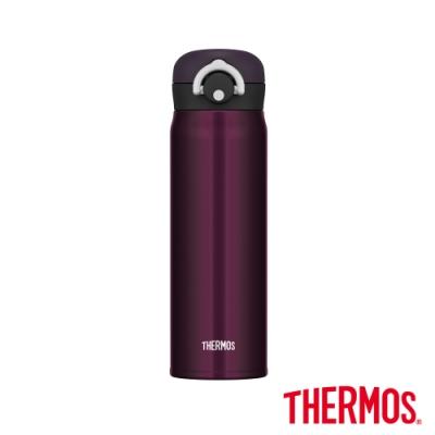 [送凱菲保溫杯] THERMOS膳魔師不鏽鋼真空輕巧變保溫瓶0.5L(JNR-500)-M-BK(午夜黑)