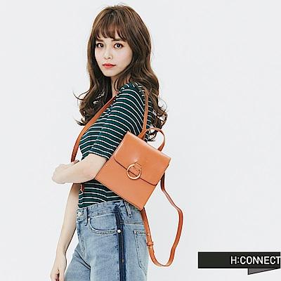 H:CONNECT 韓國品牌 -簡約後背方包-棕