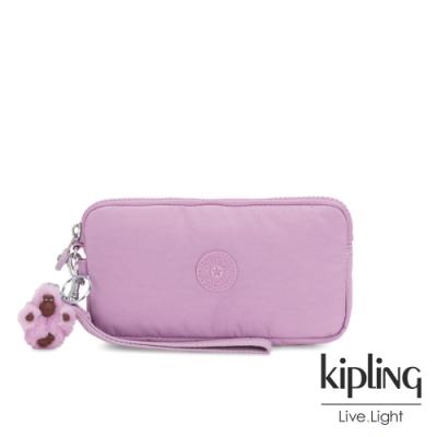 Kipling 夢幻粉紫色手拿包-LOWIE