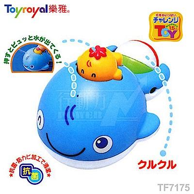 【任選】日本《樂雅 Toyroyal》洗澡玩具-噴水鯨魚