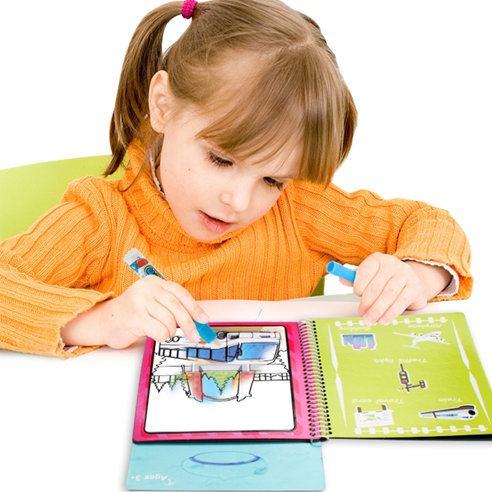 JoyNa兒童神奇魔法水畫冊循環塗鴉書繪畫板繪畫本-2組入