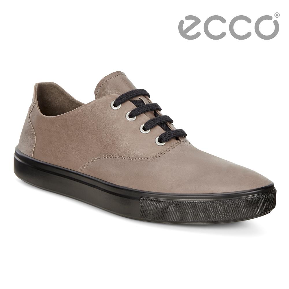 ECCO KYLE 超柔軟牛皮兩穿懶人鞋 男-棕