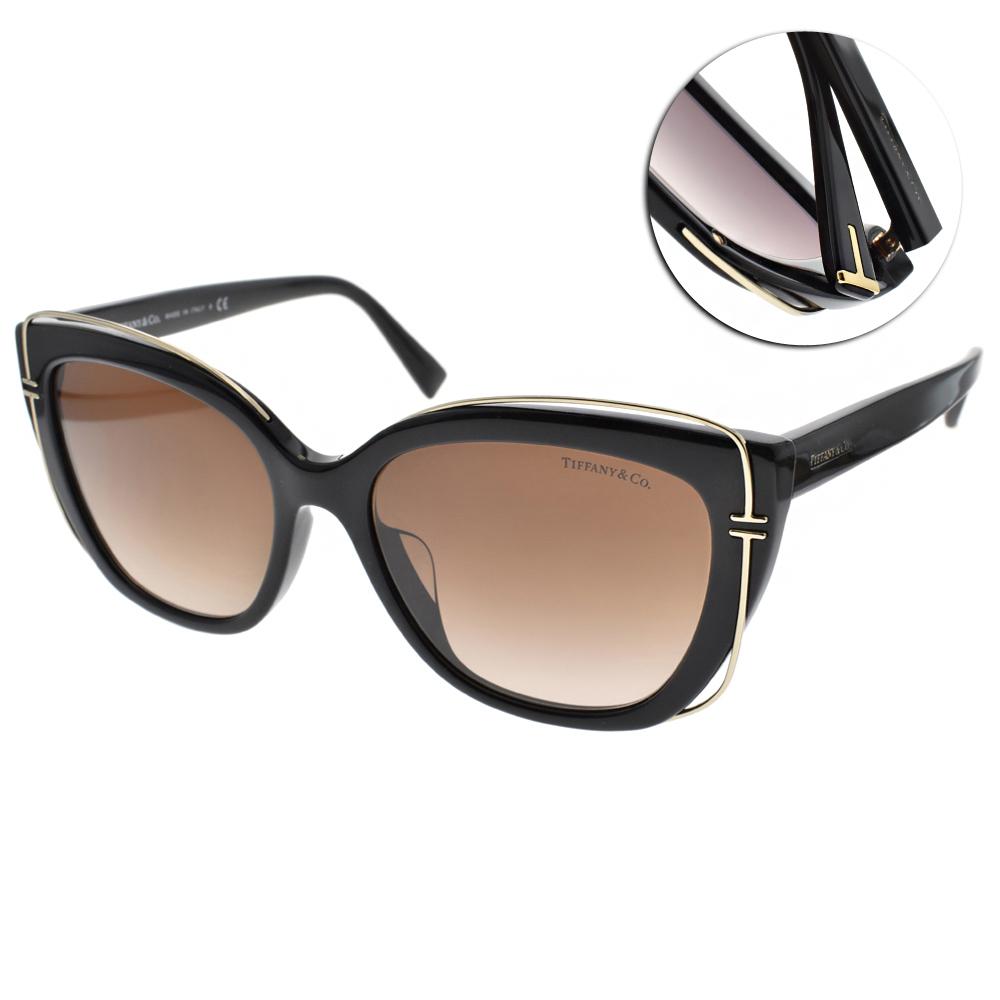 Tiffany&CO.太陽眼鏡 簡約典雅/黑#TF4148F 80013B