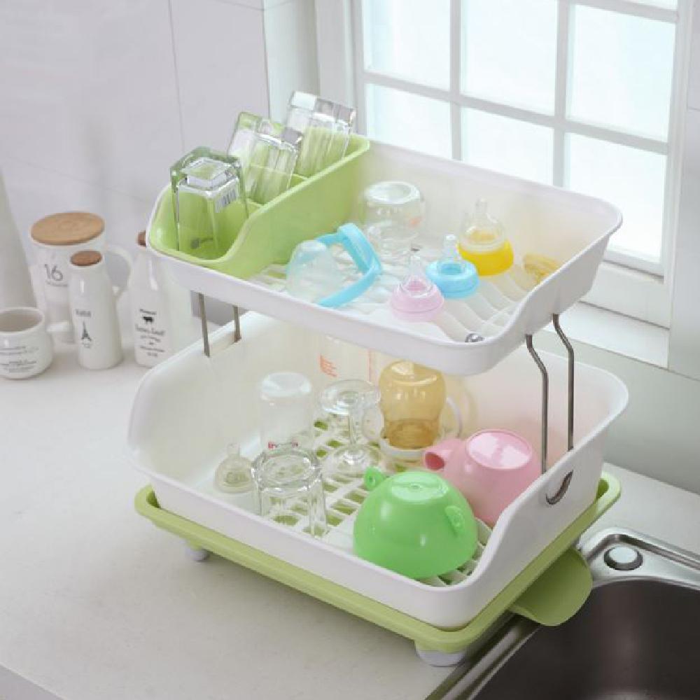 【家適帝】新一代- 超大雙層碗筷瀝水收納架 @ Y!購物