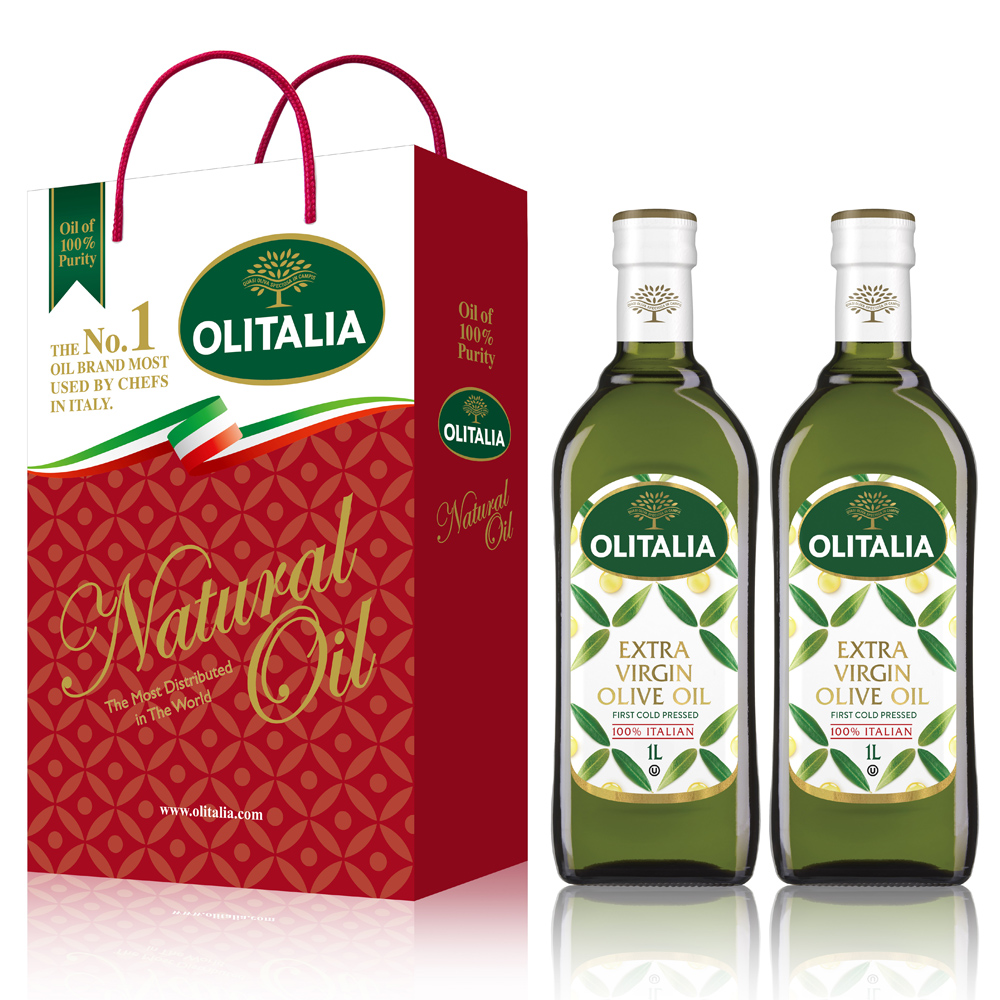 Olitalia奧利塔特級初榨橄欖油禮盒組(1000mlx2瓶)(春節禮盒)