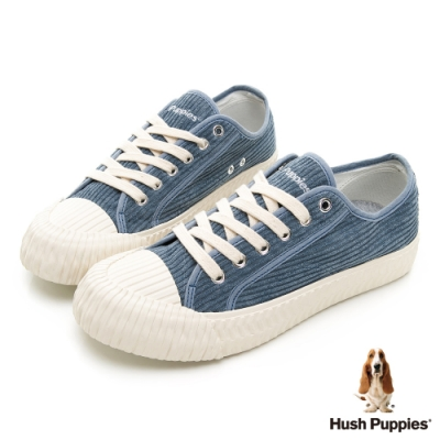 Hush Puppies 燈心絨休閒餅乾鞋-藍色