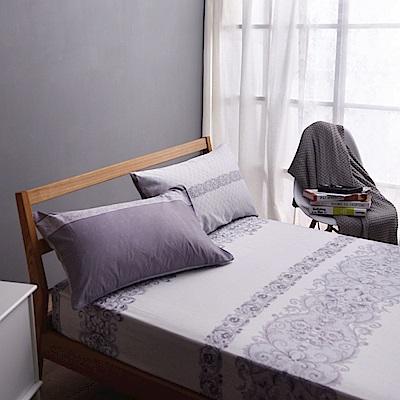 喬曼帝Jumendi-悠悠漫舞 專利吸濕排汗天絲加大三件式床包組