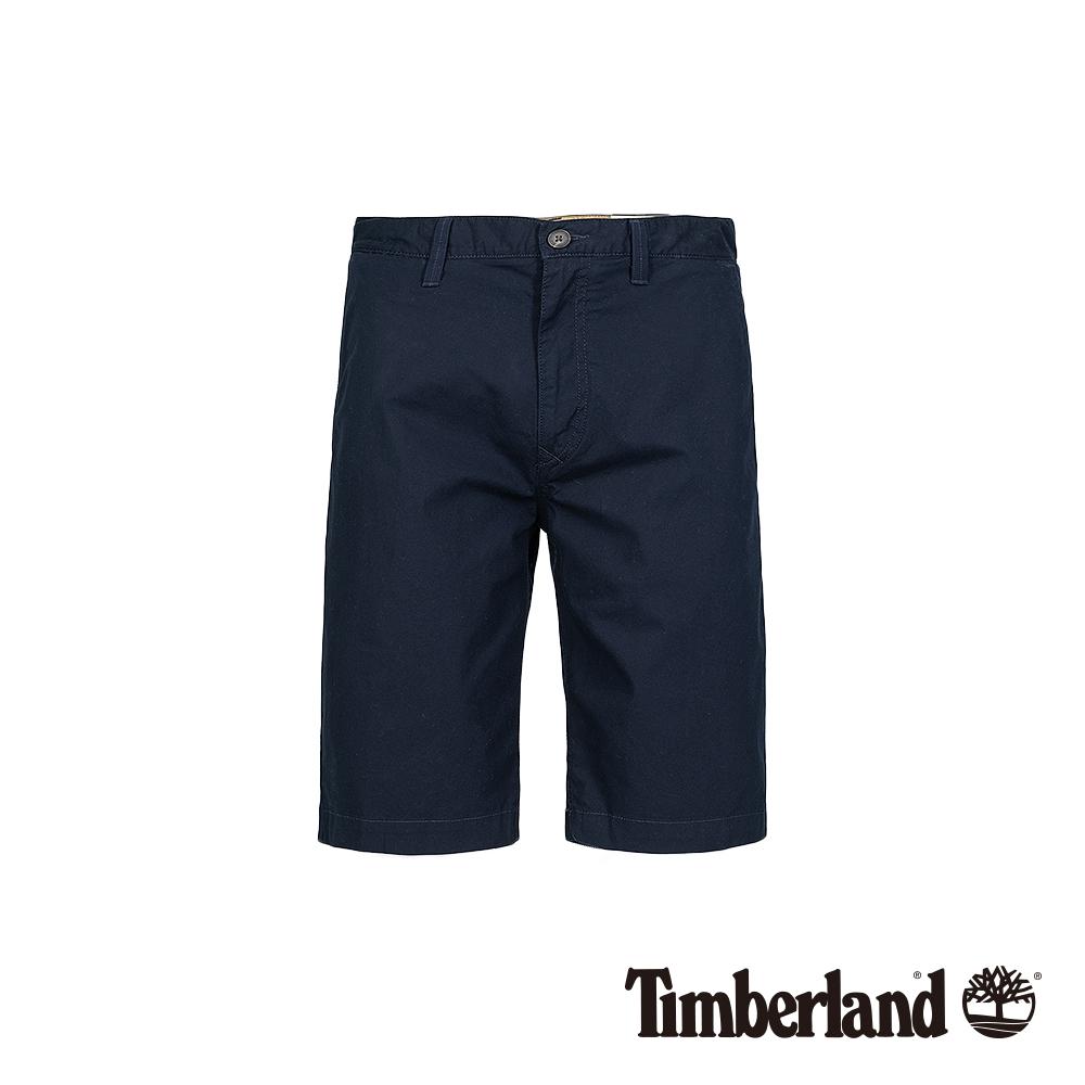 Timberland 男款深寶石藍彈力卡其短褲 A1LV9