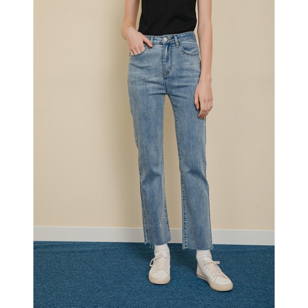 Shester55-彈力小直筒牛仔褲(二色)-女【B2SH014】