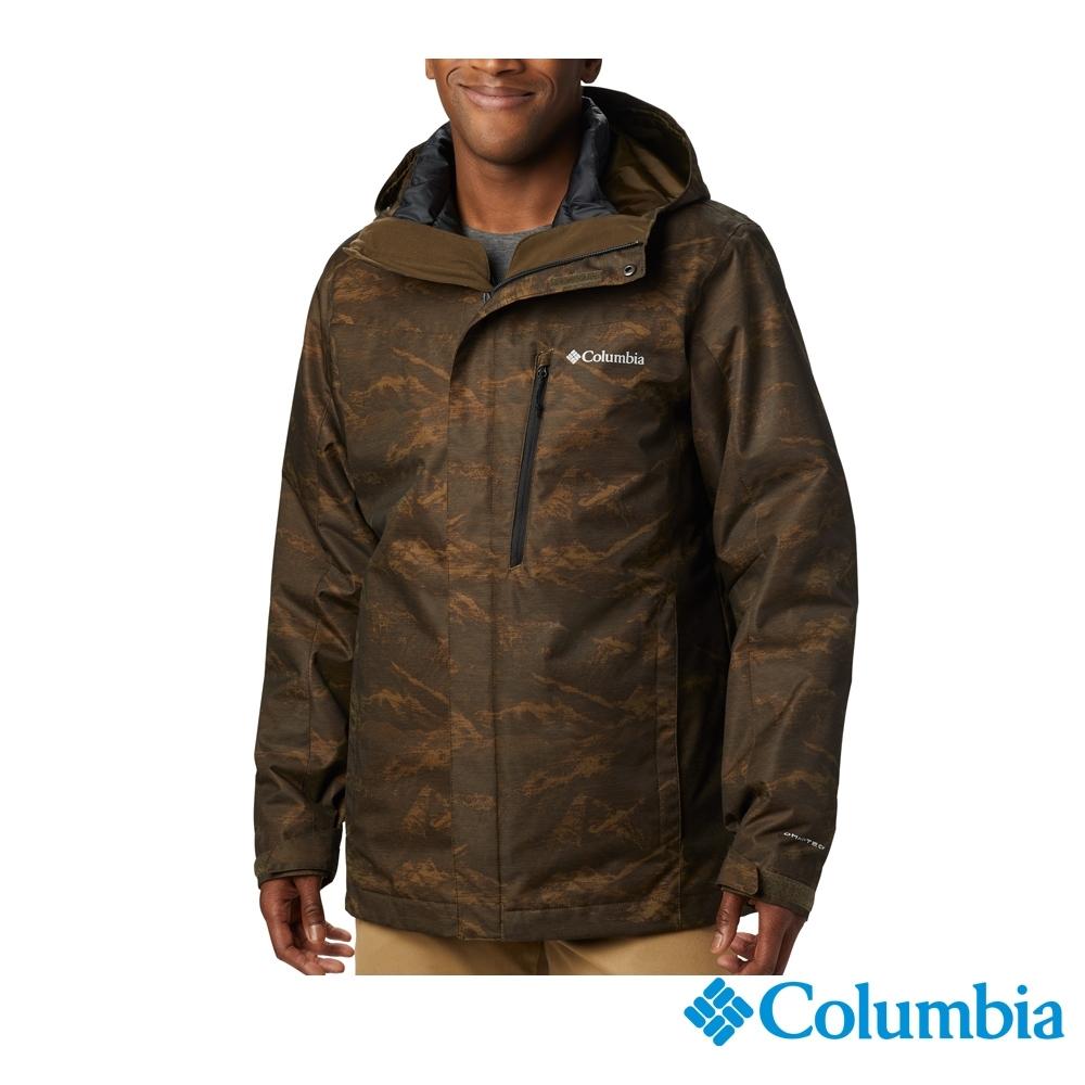 Columbia 哥倫比亞 男款- Omni TECH 防水保暖兩件式外套-綠