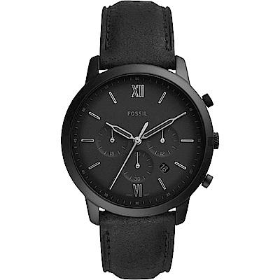FOSSIL 潮流時尚石英計時手錶(FS5503)-黑/42mm
