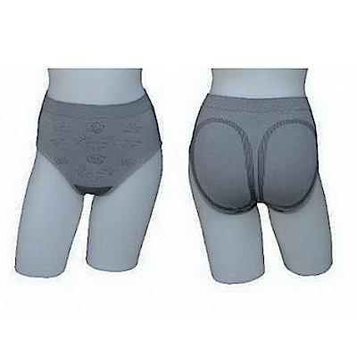 三合豐 ELF 女性竹炭中腰三角玫瑰花紋內褲-4件