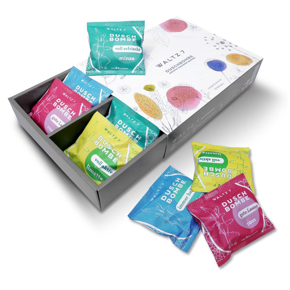 華爾滋7號淋浴SPA香氛錠-上癮活力綜合12入(禮盒禮袋組)