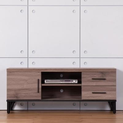D&T德泰傢俱 BROOK淺胡桃木4尺電視櫃-120x60x49cm