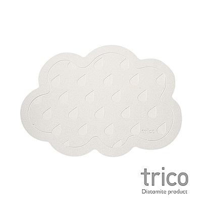 Trico 雲朵雨滴瞬吸珪藻土地墊-灰