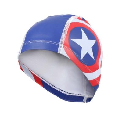 SPEEDO 兒童合成泳帽PACE-美國隊長-游泳 戲水 海邊 沙灘 漫威 SD811307C842 紅藍白