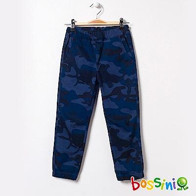 bossini男童-輕鬆束口長褲03海藍