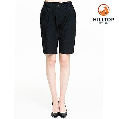 【hilltop山頂鳥】女款超潑水抗UV合身短褲S09F66黑美人
